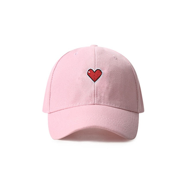 HEART Embroidered Cap [3 Colours]