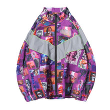 Load image into Gallery viewer, Vaporwave DISINTEGRATION 3M Reflective Stripe Windbreaker Jacket [2 Colours]