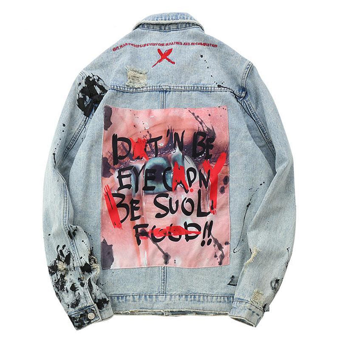 Eye Candy Graffiti Denim Jacket