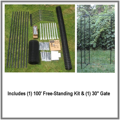 Purrfect Fence Free Standing Kit Including Gate
