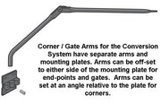 Single Existing Fence Conversion Arm Assembly