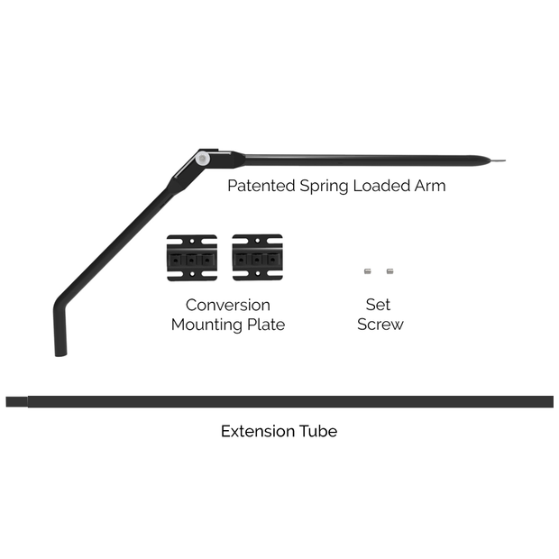 Single Arm Add on Assembly to Shorter Fence Conversion System