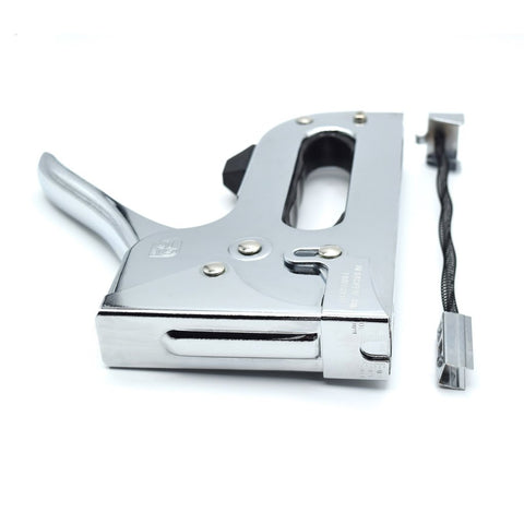 Chrome Stapler - Includes 1000 9/16 (14mm) Galvanized Staples by Citadel Tools