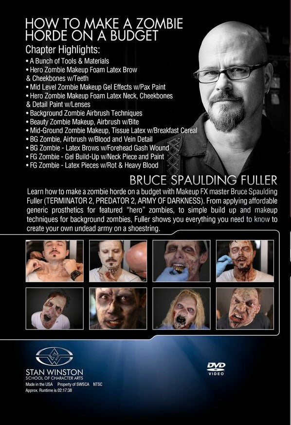 bruce-fuller-create-zombie-horde-makeup-on-a-budget-stan-winston-dvd-extreme fx makeup