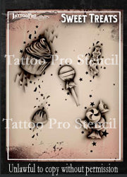 Tattoo Pro Airbrush Stencils - Series 3 & 4