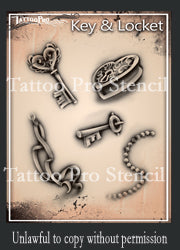Tattoo Pro Airbrush Stencils - Series 1 & 2
