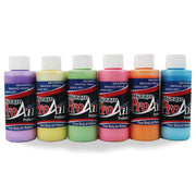 ProAiir Unicorn Airbrush Face Paint Kit of Six Pastel Colors with Shimmer