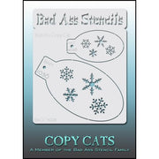 Bad Ass Copy Cat Stencil A Set of two snowflake designs for face paiting airbrush hobby