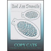 Bad Ass Copy Cat Stencil A Set of two skin crackle designs for face paiting airbrush hobby