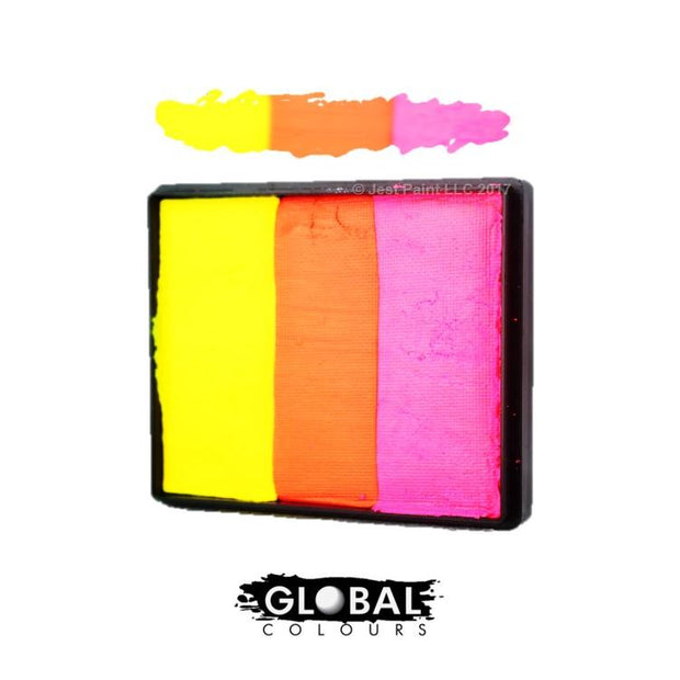 Global Colours Rainbow Cakes-Global-extrememakeupfx