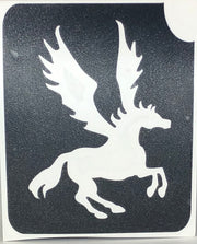 Glitter Tattoo Stencil Pegasus at EMFXStore