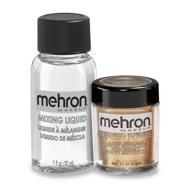 Mehron Metallic Powder and Mixing Liquid Set-Mehron-extrememakeupfx