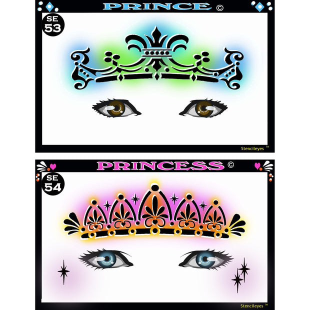 StencilEyes Airbrush Face Painting Stencils - Adult Size