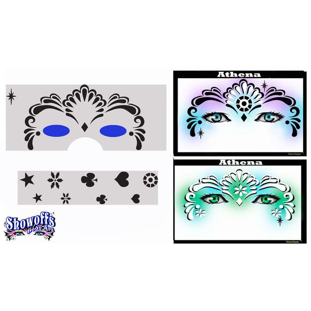 StencilEyes Airbrush Face Painting Stencils - Adult Size-Pro Aiir-extrememakeupfx