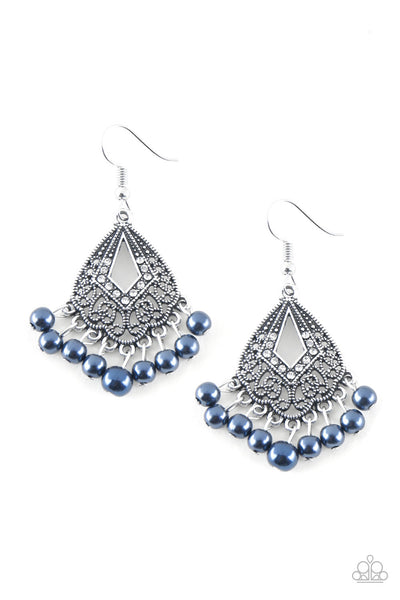 Paparazzi Gracefully Gatsby - Earrings Blue Box 35