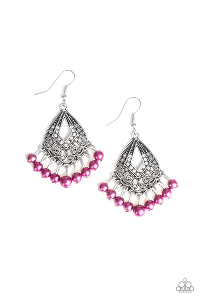 Paparazzi Gracefully Gatsby -  Earrings Purple Box 35