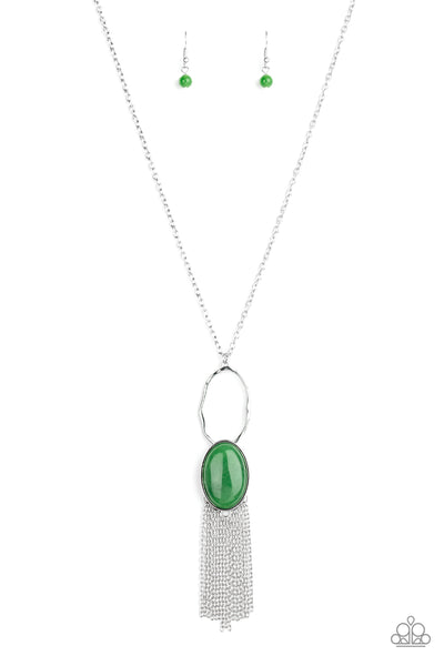Paparazzi Dewy Desert - Necklace Green Box 82