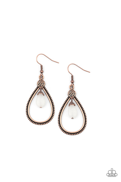 Paparazzi Ill Believe It ZEN I See It - Earrings Copper Box 90