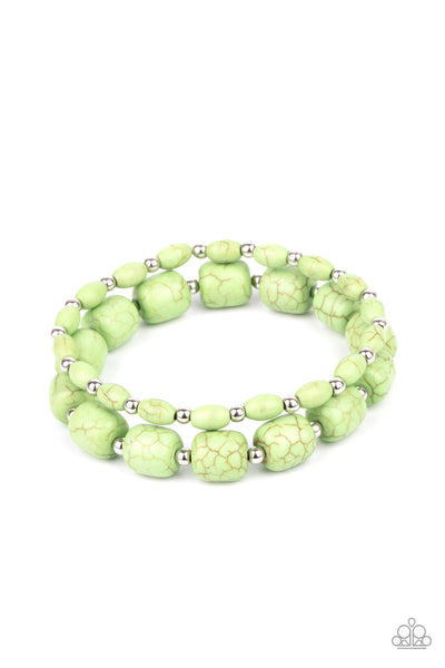 Paparazzi Colorfully Country - Bracelet Green Box 87