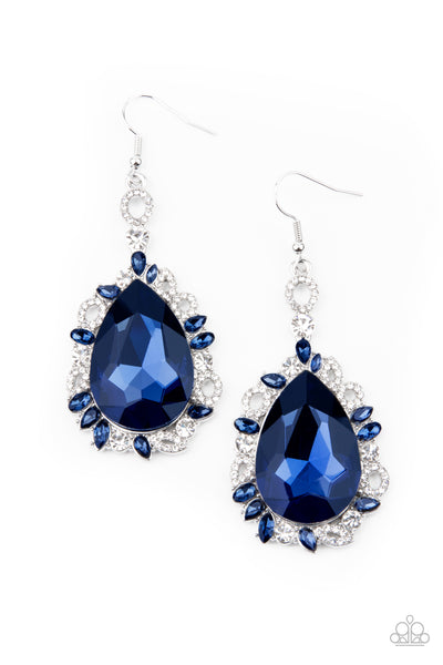 Paparazzi Royal Recognition -  Earrings Blue Box 90