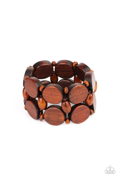 Paparazzi Beach Bravado - Bracelet Brown Box 87