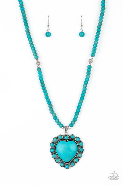 Paparazzi A Heart Of Stone - Necklace Blue Box 87