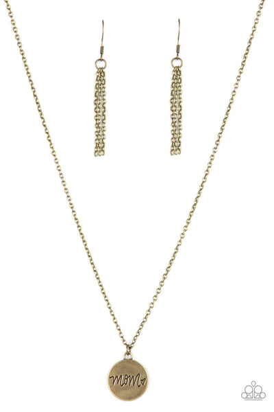 Paparazzi The Cool Mom - Necklace Brass Box 87