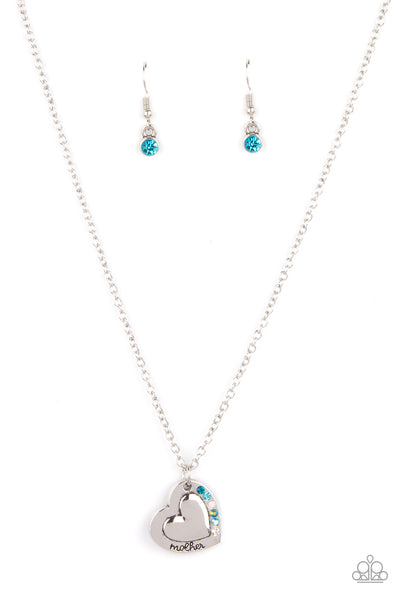 Paparazzi Happily Heartwarming - Necklace Blue Box 87