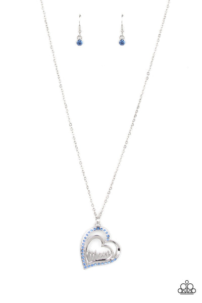 Paparazzi A Mothers Heart - Necklace Blue Box 87