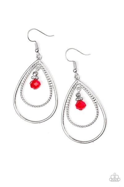 Paparazzi REIGN On My Parade - Earrings Red Box 52