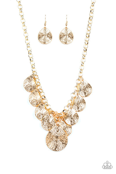 Paparazzi Texture Storm - Necklace Gold Box 30