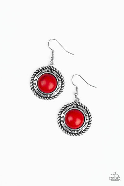 Paparazzi Natural-Born Nomad - Earrings Red Box 22
