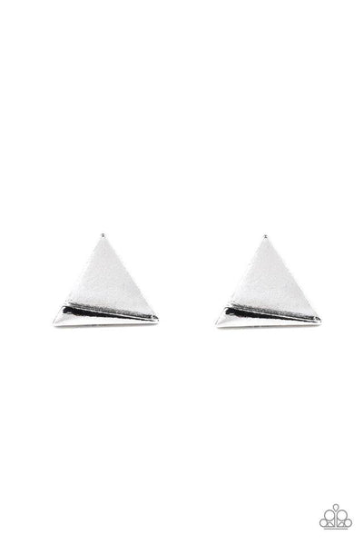 Paparazzi Die Tri-ing - Earrings Silver Box 79