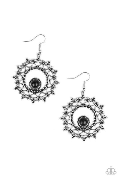 Paparazzi Wreathed in Whimsicality - Earrings Black Box 84