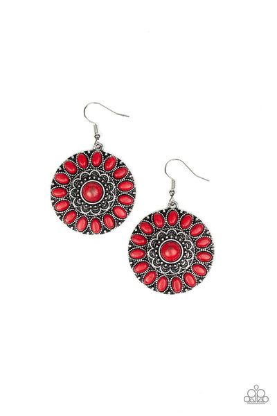 Paparazzi Desert Palette - Earrings Red Box 40