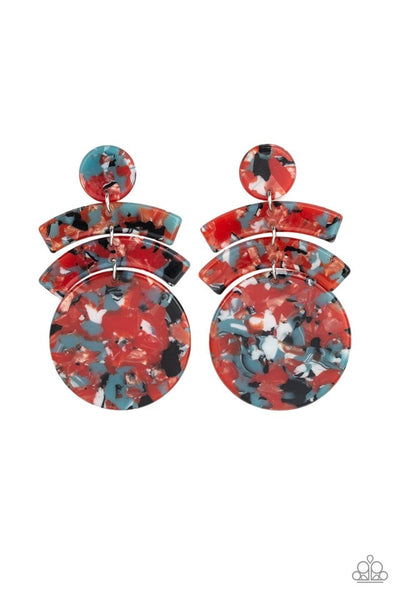 Paparazzi In The HAUTE Seat - Earrings Orange Box 18