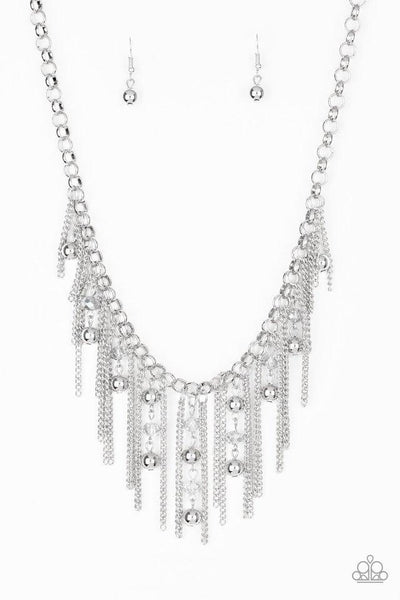 Paparazzi Ever Rebellious - Necklace Silver Box 24