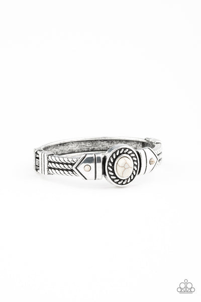 Paparazzi Tribal Soul - Bracelet White Box 36