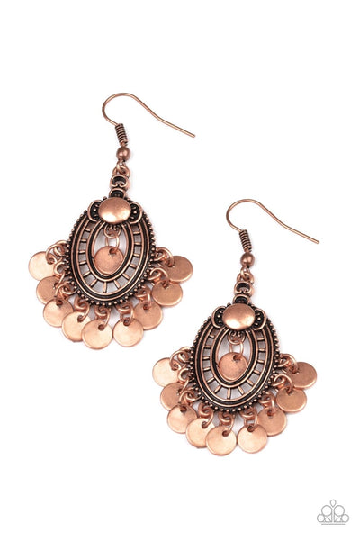 Paparazzi Chime Chic - Earrings Copper Box 84