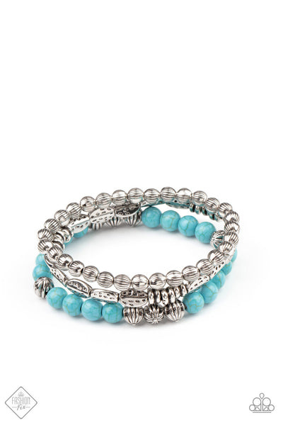 Paparazzi Trail Mix Mecca - Bracelet Blue Box 85