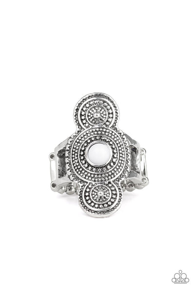 Paparazzi Desert Mandalas - Ring White Box 87