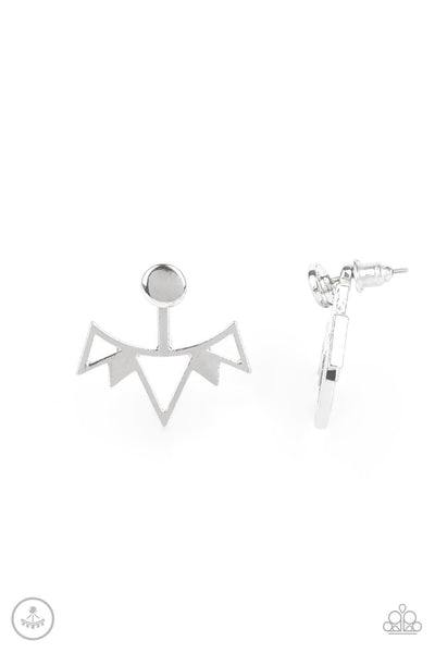 Paparazzi Like a Flash - Earrings Silver Box 48