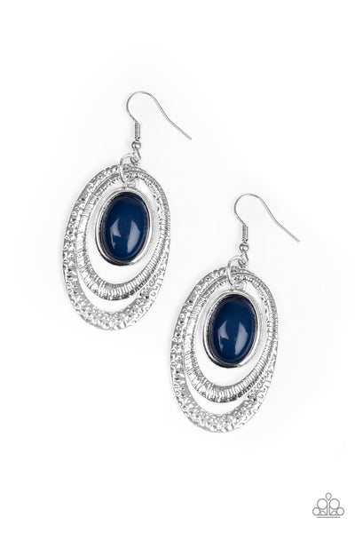 Paparazzi Seaside Spinster - Earrings Blue Box 46