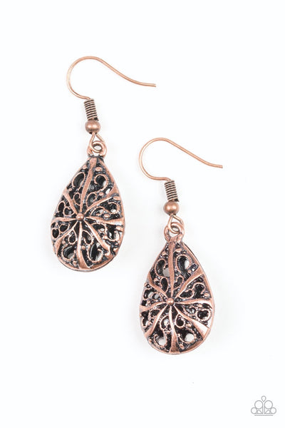 Paparazzi Western Wisteria - Earrings Copper Box 44