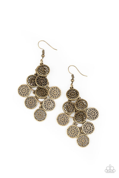 Paparazzi Blushing Blooms - Earrings Brass Box 82