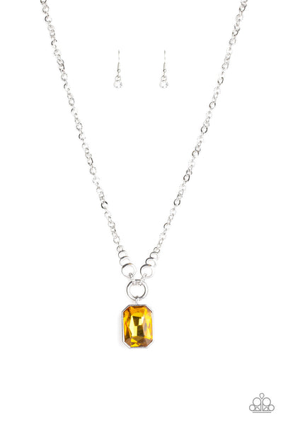 Paparazzi Queen Bling - Necklace Yellow Box 35