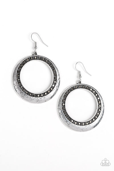 Paparazzi Go-Go Glow - Earrings Silver Box 45