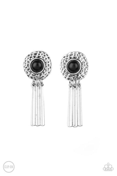 Paparazzi Desert Amulet - Earrings Black Box 84