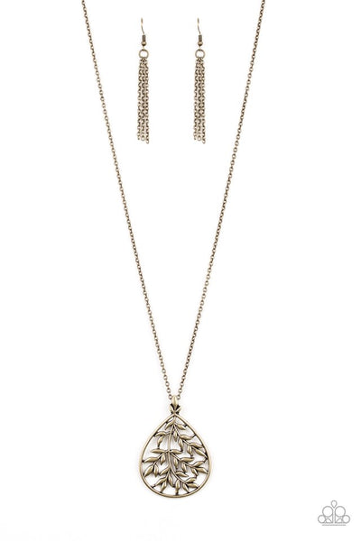 Paparazzi BOUGH Down - Necklace Brass Box 23