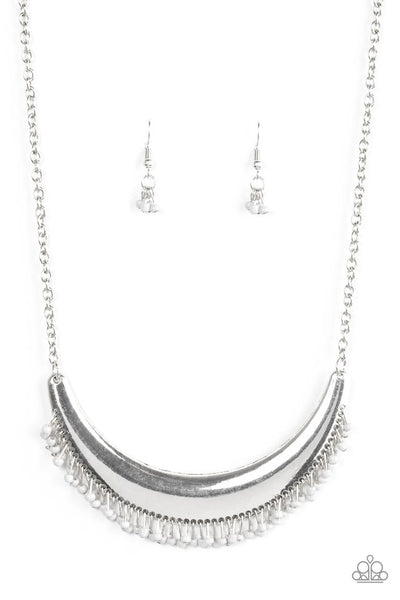 Paparazzi Fringe Out - Necklace Silver Box 12